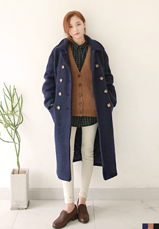 [OUTER] DOUBLE WOOL LONG COAT