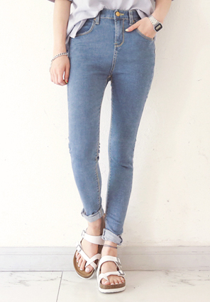 [BOTTOM] SOFT BLUE HIGH SKINNY