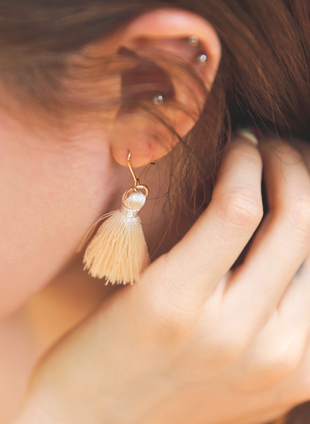 [JEWELRY] TASSEL EARRINGS