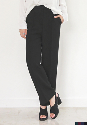 [BOTTOM] SILKY WIDE SLACKS