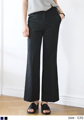 [BOTTOM] BASIC BOOTS CUT SLACKS