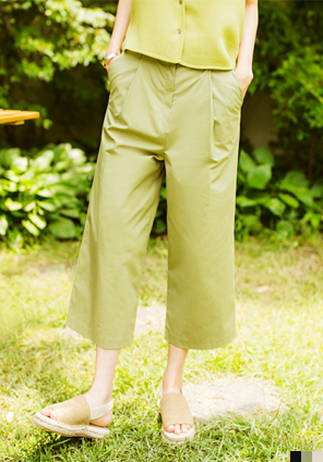 [BOTTOM] WIDE 8 COTTON PANTS