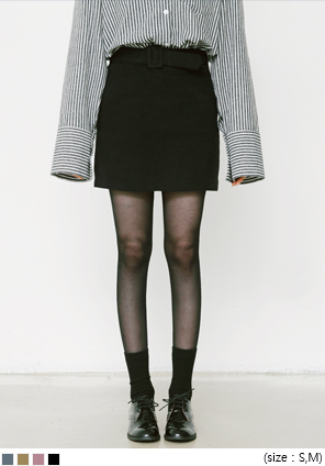 [SKIRT] SQUARE BELT MINI SKIRT