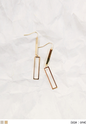 [JEWELRY] TWO LONG SQUARE EARRING