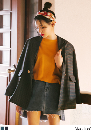 [OUTER] MODERN MINI CHECK JACKET