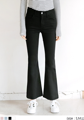 [BOTTOM] 4 COLOR BOOTS CUT PANTS