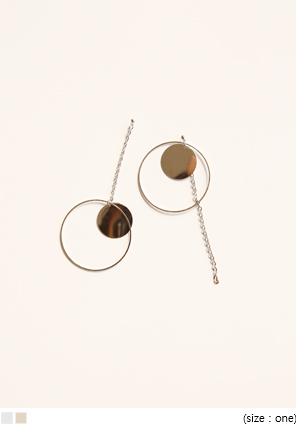 [JEWELRY] CIRCLE RING DROP EARRING