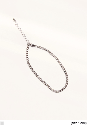 [JEWELRY] SILVER CHAIN ANKLE BRACELET