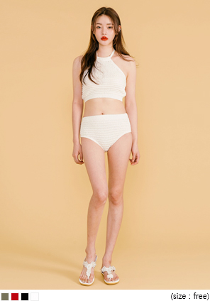 [SWIM WEAR] KNIT PUNCHING BIKINI
